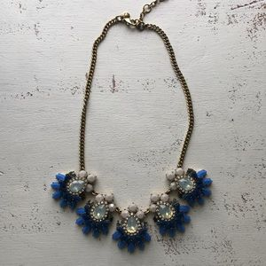 J Crew necklace blue & taupe